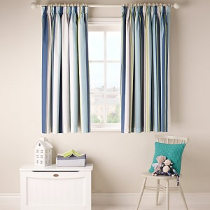 Striped Canvas Drapery Curtains