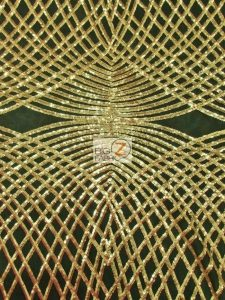 Unique Diamond Designer Sequin Fabric Gold