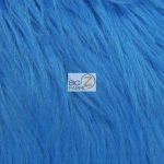 Grizzly Fake Fur Fabric Blue