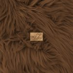 Grizzly Fake Fur Fabric Brown