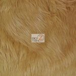Grizzly Fake Fur Fabric Camel