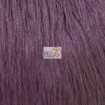Grizzly Fake Fur Fabric Eggplant