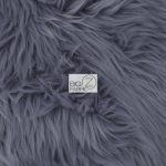 Grizzly Fake Fur Fabric Gray
