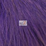 Grizzly Fake Fur Fabric Purple