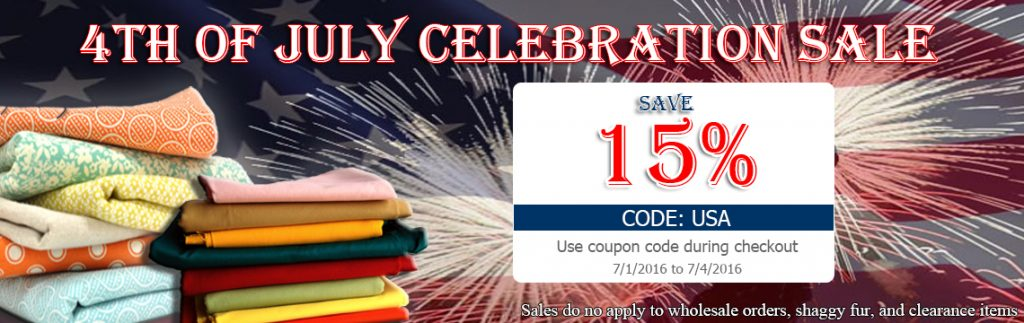 4th of July Big Z Fabric Blowout Sale