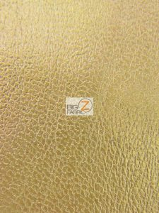 Arlind Distressed Upholstery Vinyl Fabric Gold