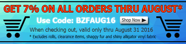 Big Z Fabric August Discount