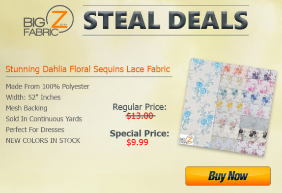 Big Z Fabric Sequins Steal Deal