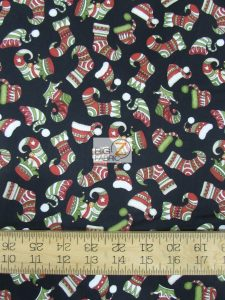 Holly Jolly Christmas Hat & Shoes By RJR Fabrics Cotton Fabric