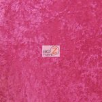 Crushed Stretch Velvet Fabric Hot Pink