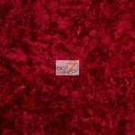 Crushed Stretch Velvet Fabric Red