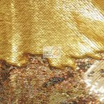 Reversible Mermaid Sequins Fabric Shiny Gold/Matte Gold