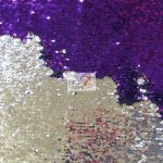 Reversible Mermaid Sequins Fabric Shiny Purple/Shiny Silver