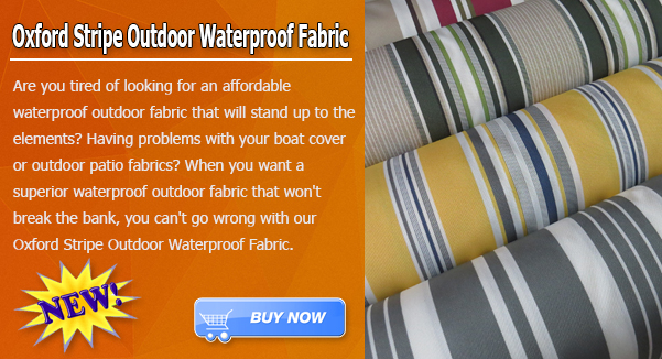 Oxford Stripe Outdoor Canvas Waterproof Fabric