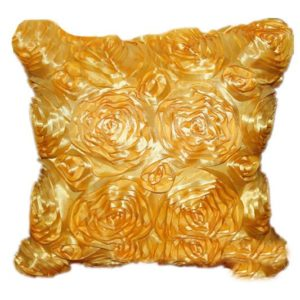 Floral Roses Taffeta Couch Cushion
