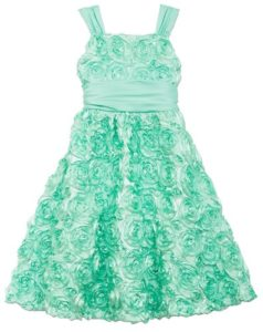 Rosette Taffeta Party Dress
