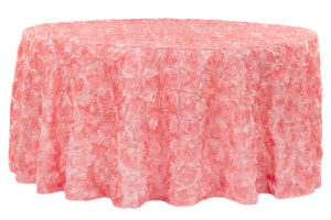 Wedding Rosette Taffeta Tablecloth
