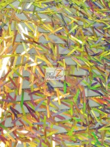 Spike Sequins Holographic Mesh Fabric Multi Gold