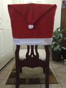 Soft Minky Christmas Chair Back Covers
