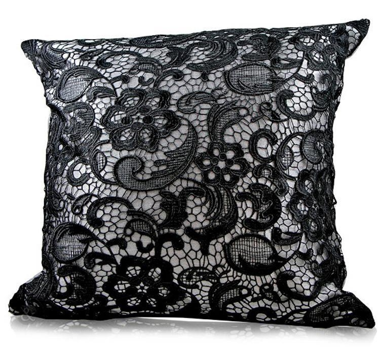 Floral Paisley Lace Cushion Cover