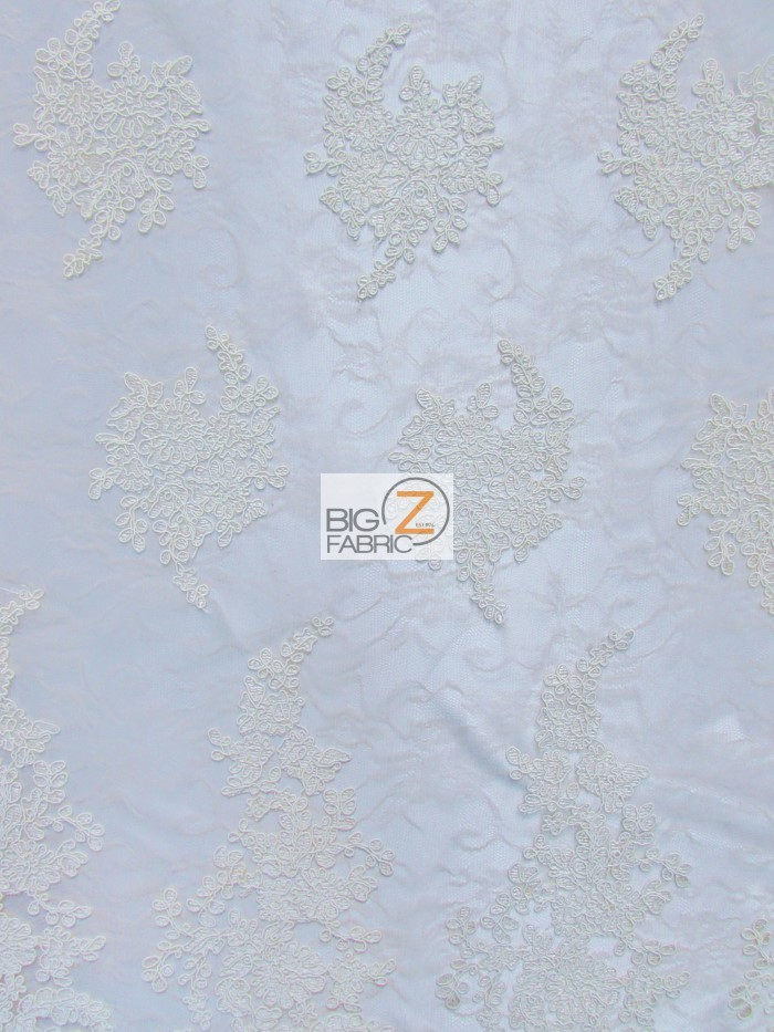 Champagne Serenity Floral Sheer Lace Fabric