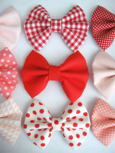 Poly Cotton Fabric Hair Bows