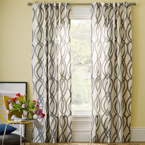 Lattice Canvas Drapery Curtains