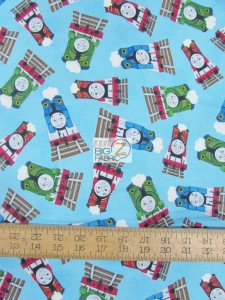 Thomas The Tank Characters Cotton fabric