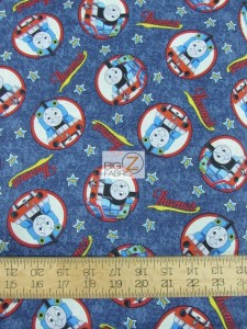 Thomas The Tank Engine Toss Cotton fabric