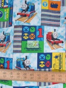 Thomas The Tank Patch Cotton fabric