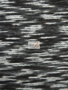 Traditional Mexican Poncho Fabric Black
