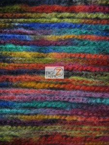 Traditional Mexican Poncho Fabric Multi-color