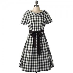 Gingham Cotton Dress