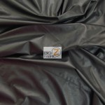 Solid Soft Fashion Vinyl Fabric Black