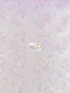 Floral Rosette Minky Faded Pink