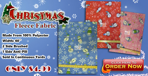 christmas snowman fleece fabric