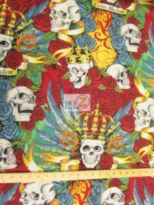 Skullduggery Alexander Henry Cotton Fabric