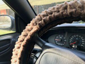 Minky Steering Wheel Cover