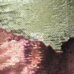 Reversible Mermaid Sequins Fabric Matte Burgundy/Matte Champagne