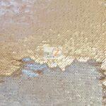 Reversible Mermaid Sequins Fabric Matte Khaki/Matte Silver