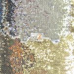 Reversible Mermaid Sequins Fabric Shiny Light Gold/Shiny Silver