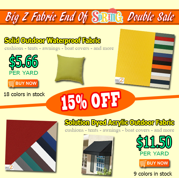 Outdoor Fabric Double Sale