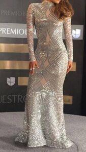 Unique Diamond Lace Sequin Dress