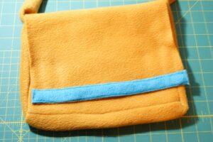 Fleece Messenger Bag