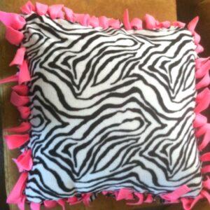 Zebra Fleece Decorative Pillow