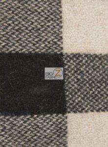 Buffalo Plaid Wool Fabric Natural