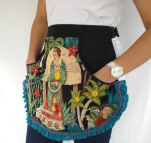 Frida Kahlo Cotton Half Apron