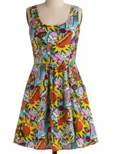 Midnight Snack Cotton Dress
