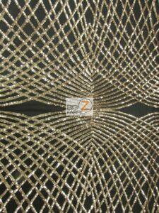Unique Diamond Sequins Fabric Light Gold