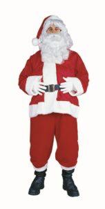 Solid Velboa Santa Claus Costume